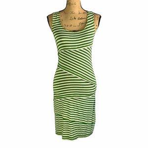Max Studio Striped Bodycon Dress